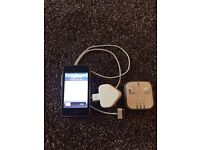 iPod Touch 3rd Generation, genuine Apple headphones and Apple charger.