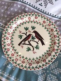 Emma Bridgewater Joy Robin cake plate