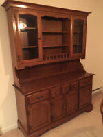 Vilas maple table, chairs, buffet and hutch