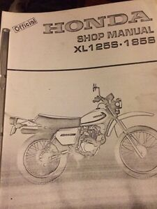 Honda XL125S XL185S Shop Manual