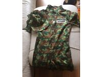 Army dress up costume with hat (age 6-8 years)