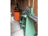 Morso framing guillotine and Cassese underpinner complete with compressor.