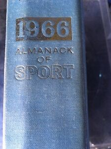 1966 Almanack Of Sport book