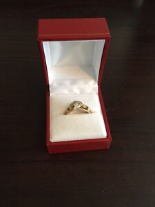10k Yellow gold and diamond ring for engagement for the ladies  London Ontario image 1