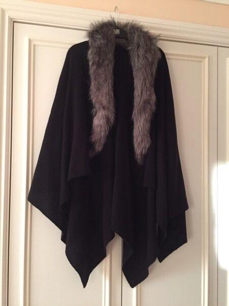 Soft wool cape