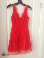 BCBG Red lace dress - SIZE XXS