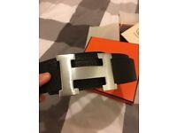 Mens Authentic Hermes Belt black