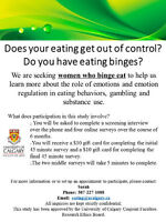 Do you binge eat? Female participants needed for online study!