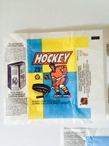 VINTAGE 1980's O-PEE-CHEE HOCKEY WAX PACK WRAPPERS X3 London Ontario image 3