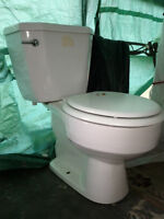 Newer low flow toilet from seldom used powder room.