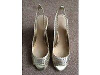South Slingback Gold Heels Size 4 UK