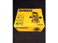 "Brand New/Boxed DeWalt 615 1000w 1/4"" plunge router 230v Type 5 55mm depth"