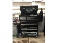 Snap on tool box with a tools bundle