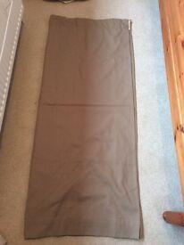 Light brown cotton curtains 114cm x 138cm