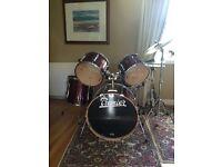 Premier Drum Kit, Ruby lacquer.