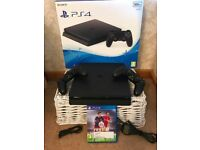 Ps4 console with 2 controllers