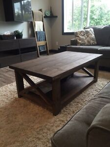 Solid Wood Rustic Coffee Tables Prince George British Columbia image 1