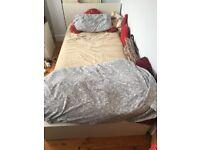 £28 IKEA MALM low single bed frame w/Luroy slatted bed base
