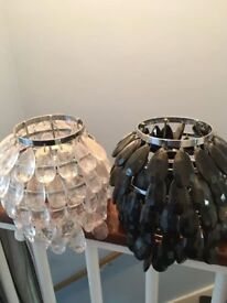 Black and Clear Pineapple Light Shade