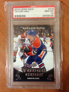 Taylor Hall Young Guns Rookie Card (PSA Graded 10) Oilers