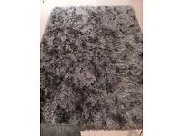 Massive Grey fluffy rug