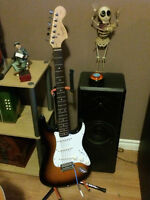 6 string Fender Squire Electric guitar