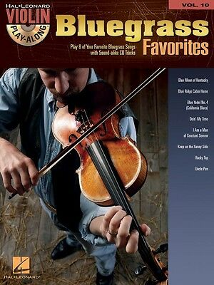 Bluegrass Favorites Sheet Music Violin Play-Along Book and CD NEW -