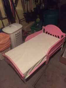 Toddler bed with mattress $30.00