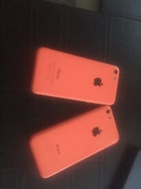 2x iphone 5c pink 8 gb £ 75 each