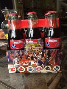 Coca Cola 6 Pack Bottles Leafs vrs Canadians Air Canada Hockey Stratford Kitchener Area image 1