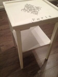 Paris Table White Grey Paint Wood Shabby Chic Decor Room Display Oakville / Halton Region Toronto (GTA) image 3