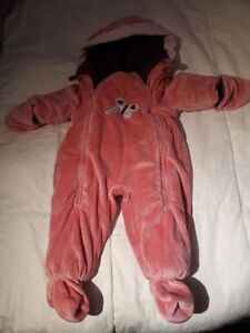 Baby girl snowsuit size 9 months