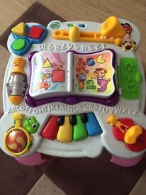Leapfrog learn and groove activity table in pink