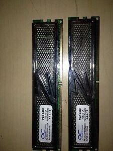 Ocz 1gb 6400 dual channel ram