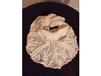 Aran cable knit Shawl