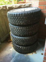 4 studded winter tires on rims (195/60R15)