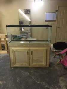 55 gallon with stand and canopy.