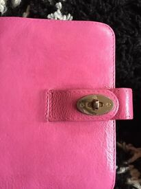 MULBERRY DYED PINK POCKET SIZED ORGANISER