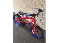 "Kids bike 16"" for sale - Spider-Man themed"