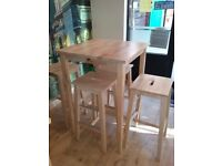 High table and 4 chairs from IKEA ,