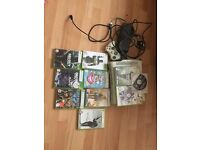 xbox 360 with games 120gb hardrive