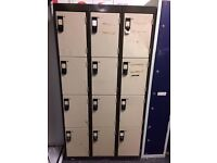 6 x Retro 4 door locker units - please see description