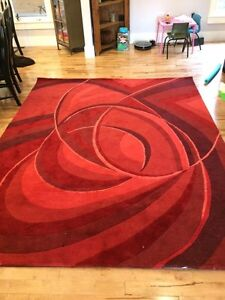 Large Red Rug Carpet Hand Tufted Imported from Turkey 8x10 feet