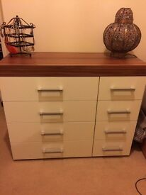Walnut effect 4x4 drawers