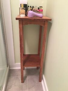 Solid end table