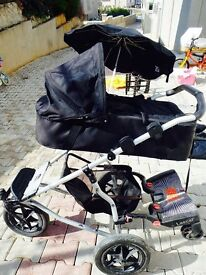 Mountain buggy urban, with a full set of accessories and spare tyres