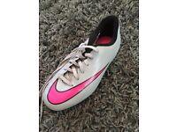 Grey & Pink Nike Football Boots Sz 2