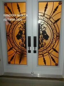 Entry Glass Entrance Front Iron Door  Energy Efficient