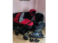 Joie Gemm Chrome travel system - 3 in 1 - Red Pushchair Pram
