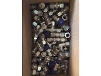 """Large Quantity of High Pressure 1/2"""" Compression Fittings (tube fittings)"""